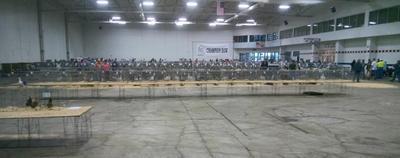 Fowl Fest, wide aisles, good lighting, single stacked, etc!
